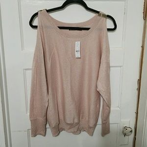 Pink/rose Gold glittered shirt